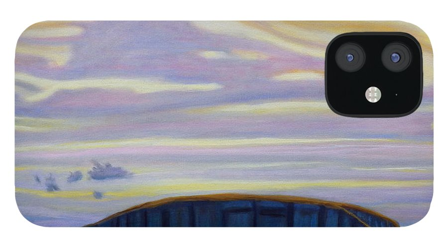 Black Mesa IPhone 12 Case featuring the painting Black Mesa by Brian Commerford