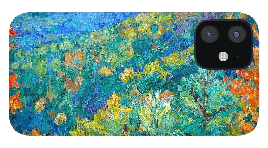 Blue Ridge Mountains IPhone 12 Case featuring the painting Blue Ridge Autumn by Kendall Kessler