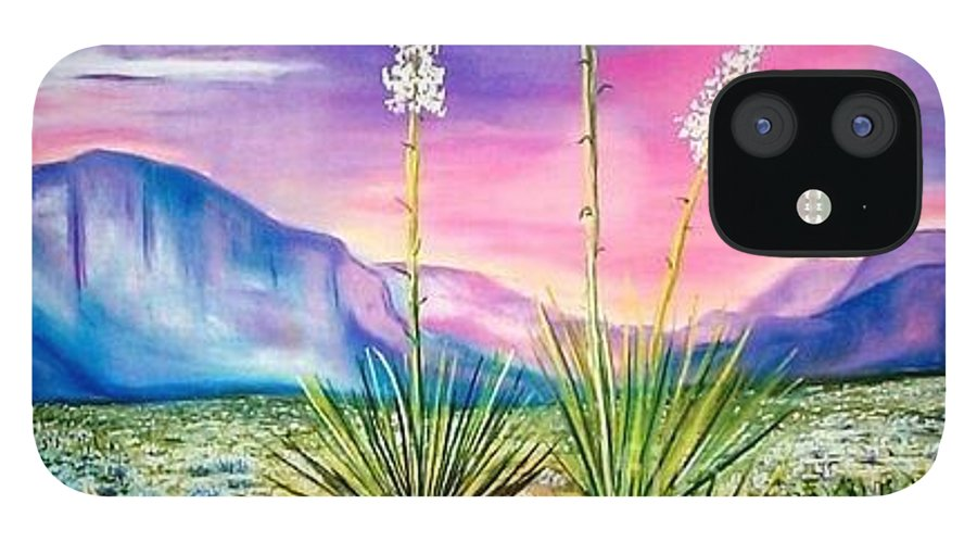 Desert IPhone 12 Case featuring the painting Bright Desert by Melinda Etzold