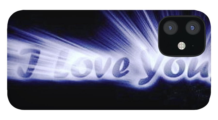 Love IPhone 12 Case featuring the digital art Burst Of Love by Ariana Torralba