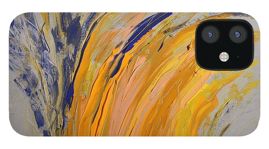 Colorado IPhone 12 Case featuring the painting Bursting by Pam Roth O'Mara