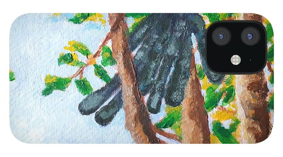 Carob iPhone 12 Case featuring the painting Carob by Caroline Cunningham