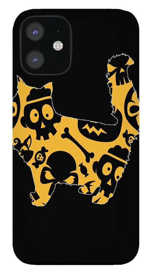 Cat Memes IPhone 12 Case featuring the digital art Cat 198 by Kaylin Watchorn