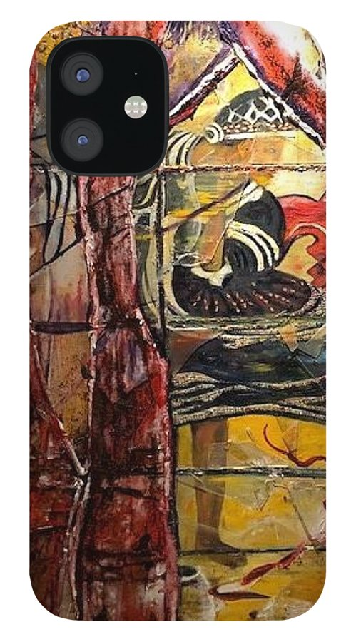 Dancing IPhone 12 Case featuring the painting Celebration by Peggy Blood