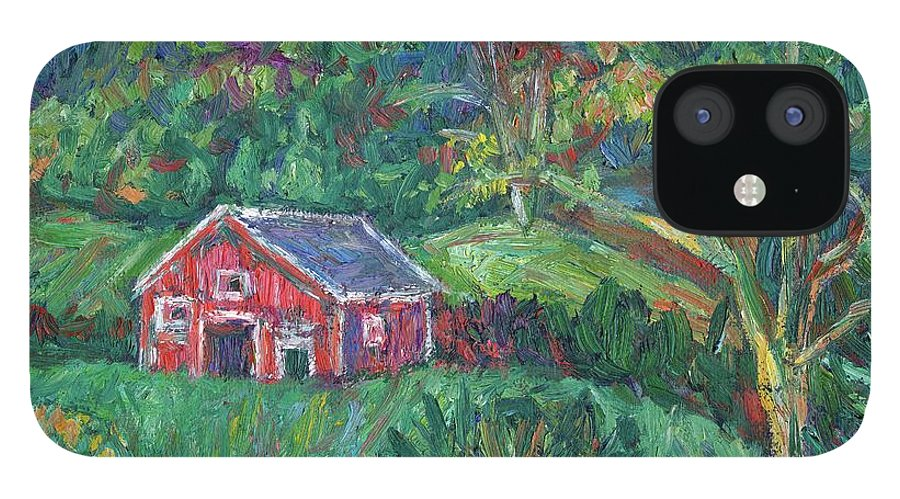 Rural IPhone 12 Case featuring the painting Clover Hollow in Giles County by Kendall Kessler