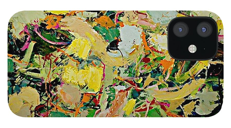 Landscape IPhone 12 Case featuring the painting Cotton Blossom by Allan P Friedlander
