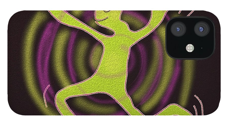 Happy IPhone 12 Case featuring the digital art Crazy Man by Rollin Kocsis