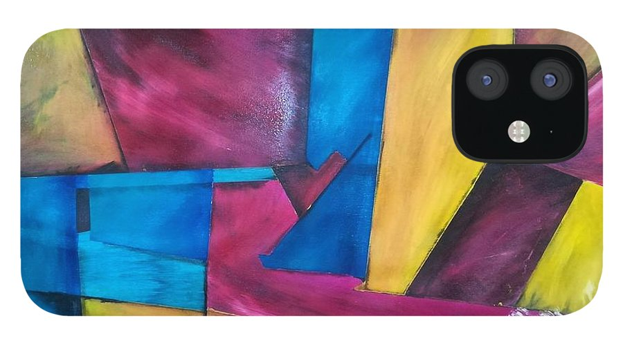 Abstracto IPhone 12 Case featuring the drawing D by Jacqueline
