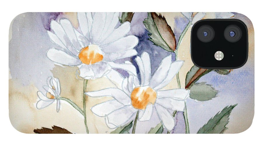 Flowers IPhone 12 Case featuring the painting Daisy Days by Patricia Novack