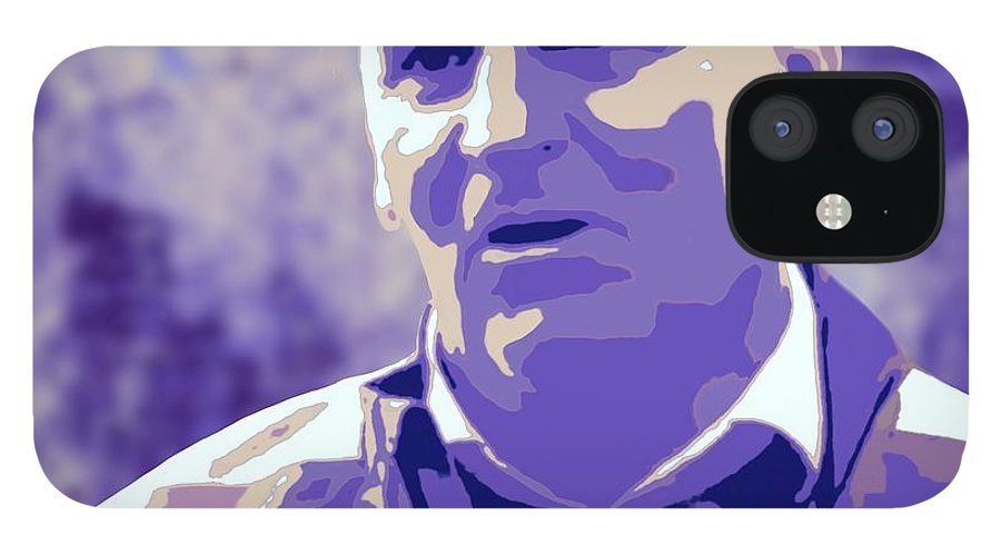 Aston Villa iPhone 12 Case featuring the painting Dean Smith by Jack Bunds