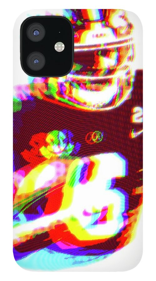 Devonta IPhone 12 Case featuring the painting DeVonta Smith Blur by Jack Bunds