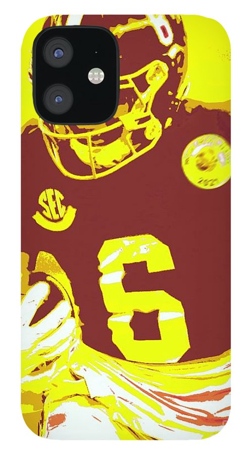 Devonta Smith IPhone 12 Case featuring the painting DeVonta Smith by Jack Bunds