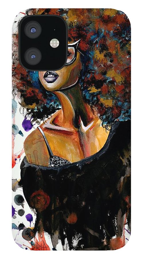 Sexy IPhone 12 Case featuring the painting Dope Chic by Artist RiA