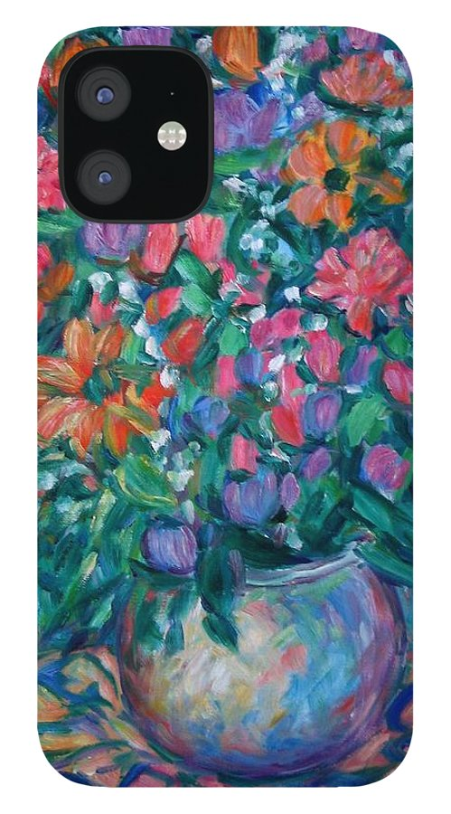 Floral Paintings IPhone 12 Case featuring the painting Dream Bouquet by Kendall Kessler
