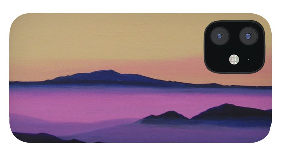 Mountains IPhone 12 Case featuring the painting Early Morning by Hunter Jay