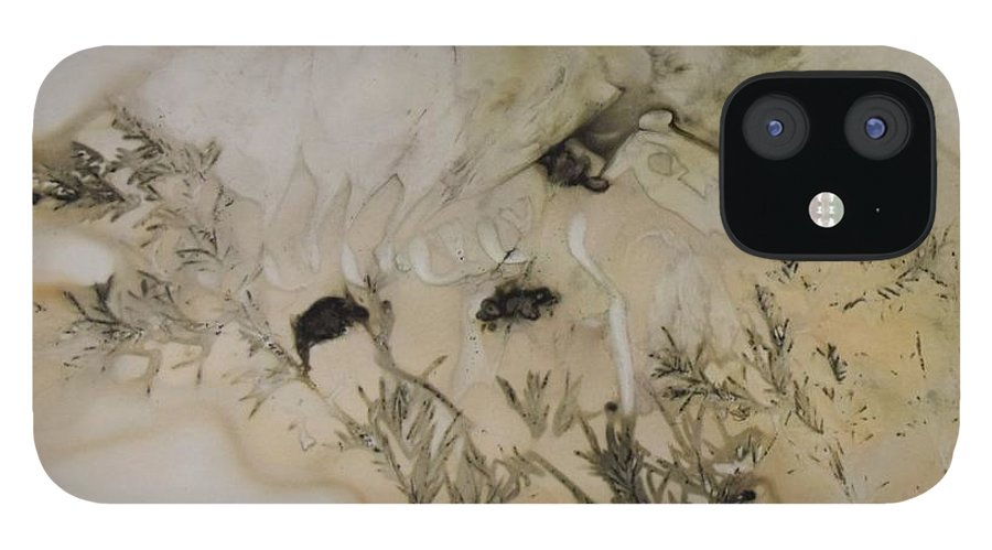 Nature IPhone 12 Case featuring the mixed media Eco print 5 by Charla Van Vlack