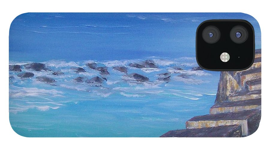 El Morro Fortress IPhone 12 Case featuring the painting El Morro Fortress by Tony Rodriguez