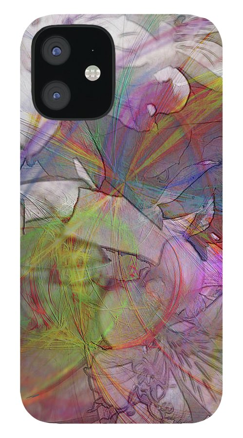 Floral Fantasy IPhone 12 Case featuring the digital art Floral Fantasy by John Robert Beck