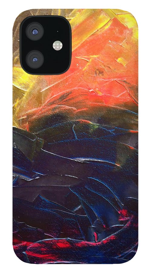 Duck IPhone 12 Case featuring the painting Forest .Part1 by Sergey Bezhinets