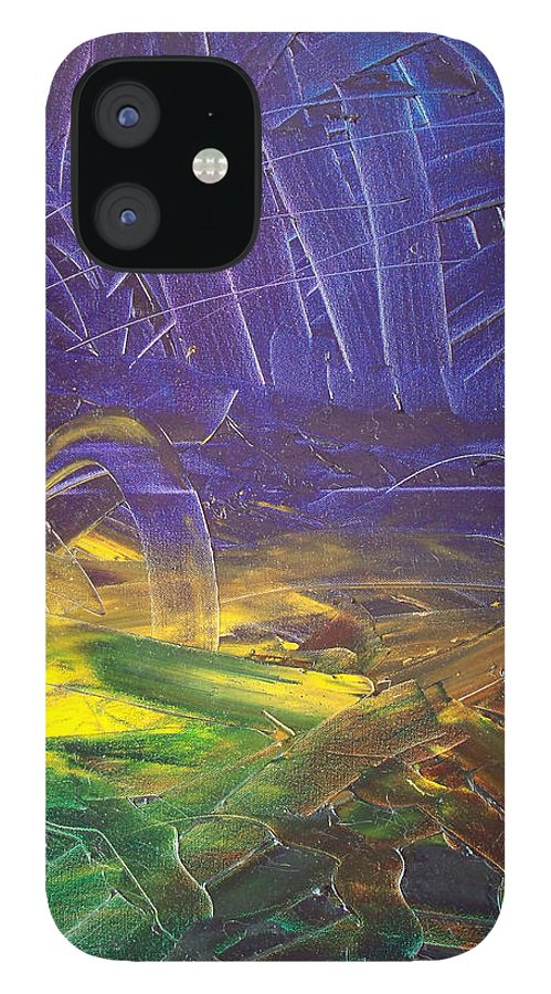 Painting IPhone 12 Case featuring the painting Forest. Part2 by Sergey Bezhinets