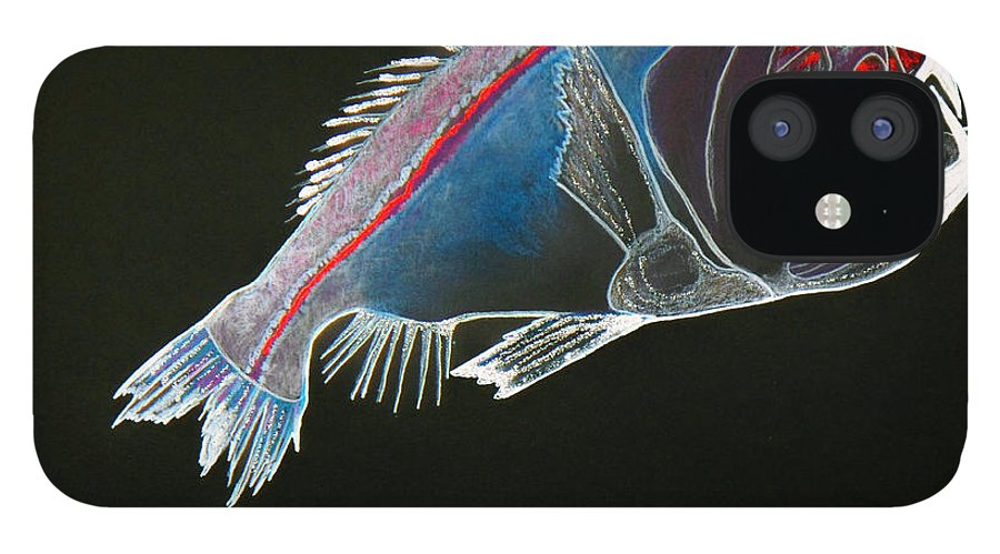 Fossil IPhone 12 Case featuring the drawing From The Abyss by Sergey Bezhinets