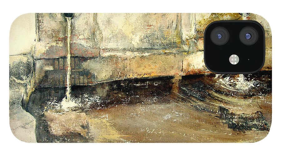 Fuente IPhone 12 Case featuring the painting Fuente by Tomas Castano