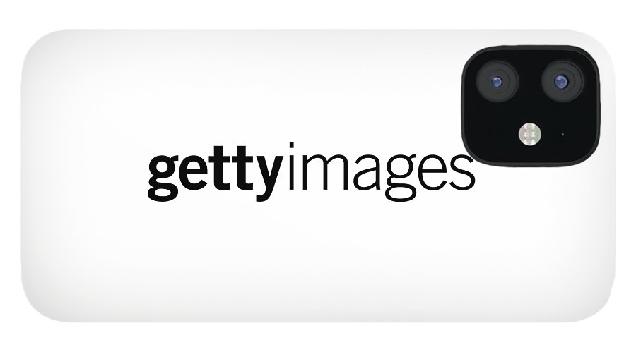 Getty Images Logo IPhone 12 Case featuring the digital art Getty Images Logo by Getty Images