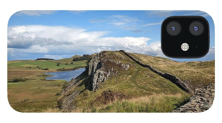 Landscape IPhone 12 Case featuring the photograph Hadrianswall by Pop
