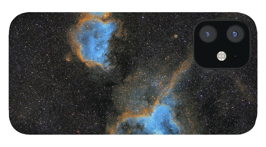 Nebula IPhone 12 Case featuring the photograph Heart and Soul Nebula by Prabhu Astrophotography