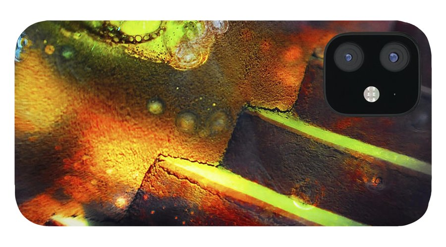 Abstract iPhone 12 Case featuring the photograph Heart of Glass by Skip Hunt
