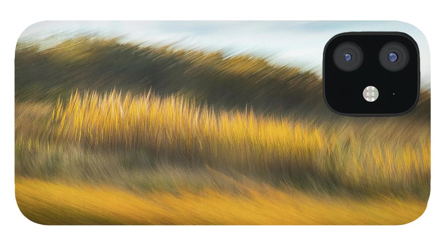 Abstracts iPhone 12 Case featuring the photograph In Fields of Gold by Marilyn Cornwell