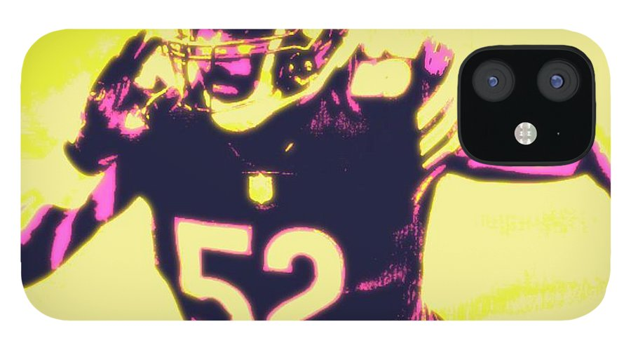 Khalil IPhone 12 Case featuring the painting Khalil Mack by Jack Bunds