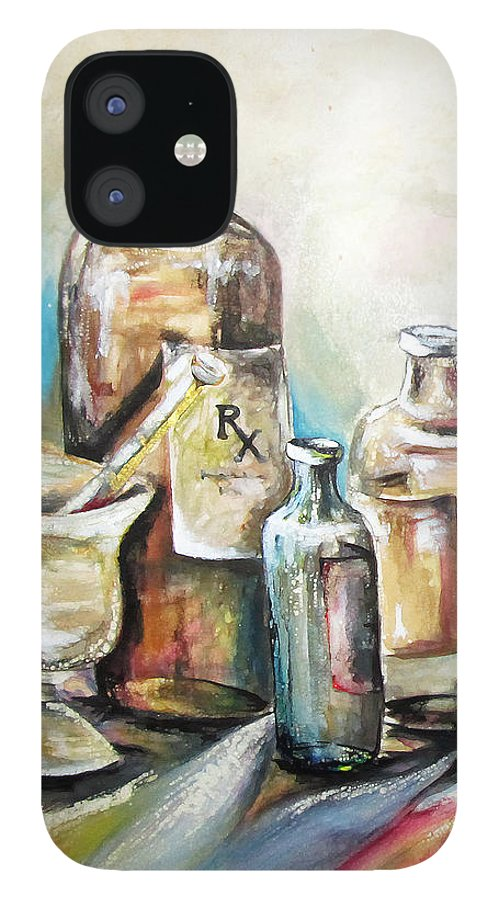 Pharmaceuticals IPhone 12 Case featuring the painting Kindered Spirits SOLD by Amanda Sanford