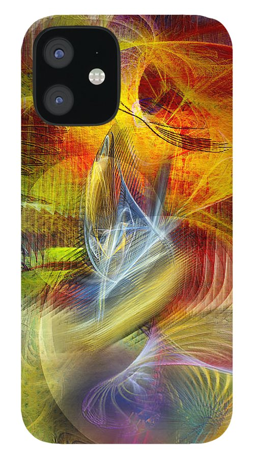 Affordable Art IPhone 12 Case featuring the digital art Lady And Her Shells by John Robert Beck