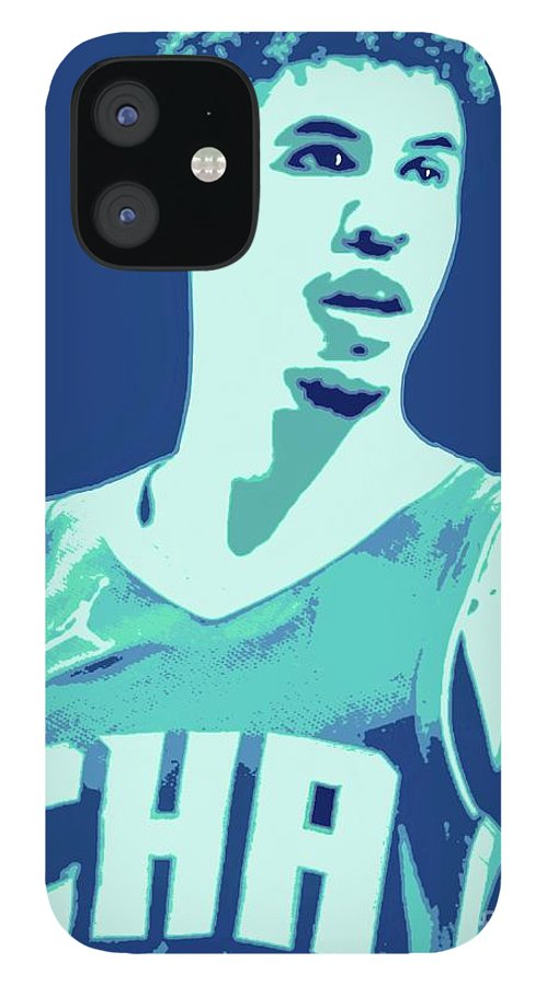 Lamelo IPhone 12 Case featuring the painting LaMelo Ball by Jack Bunds