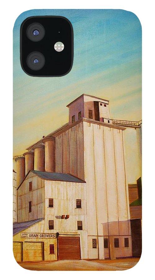 Grain IPhone 12 Case featuring the painting Latah County Grain Growers by Leonard Heid