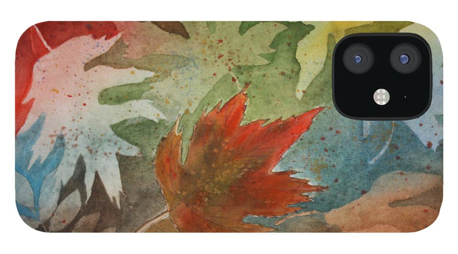 Leaves IPhone 12 Case featuring the painting Leaves II by Patricia Novack