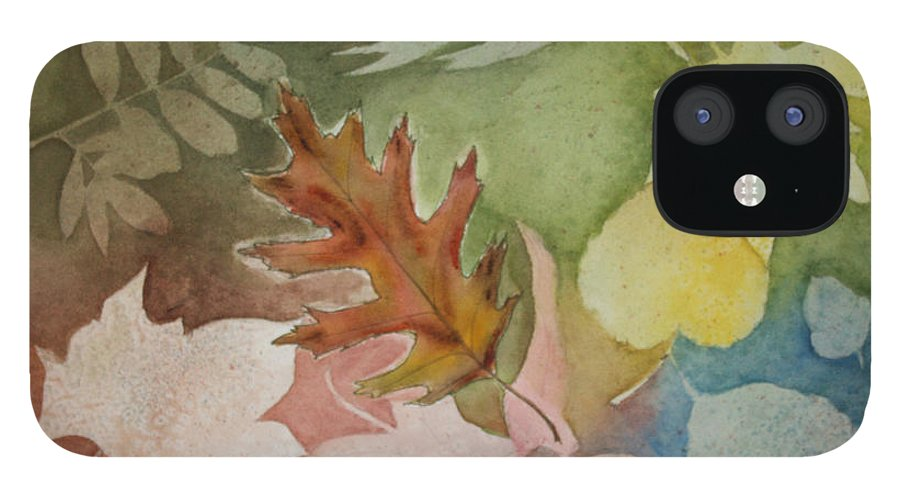 Leaves IPhone 12 Case featuring the painting Leaves IV by Patricia Novack