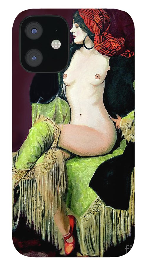 Women IPhone 12 Case featuring the painting Looking Good by Jose Manuel Abraham