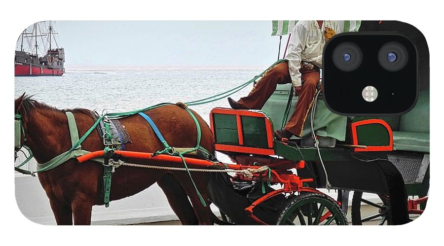 Horse IPhone 12 Case featuring the photograph Lovely Transportation in Cozumel by Kirsten Giving