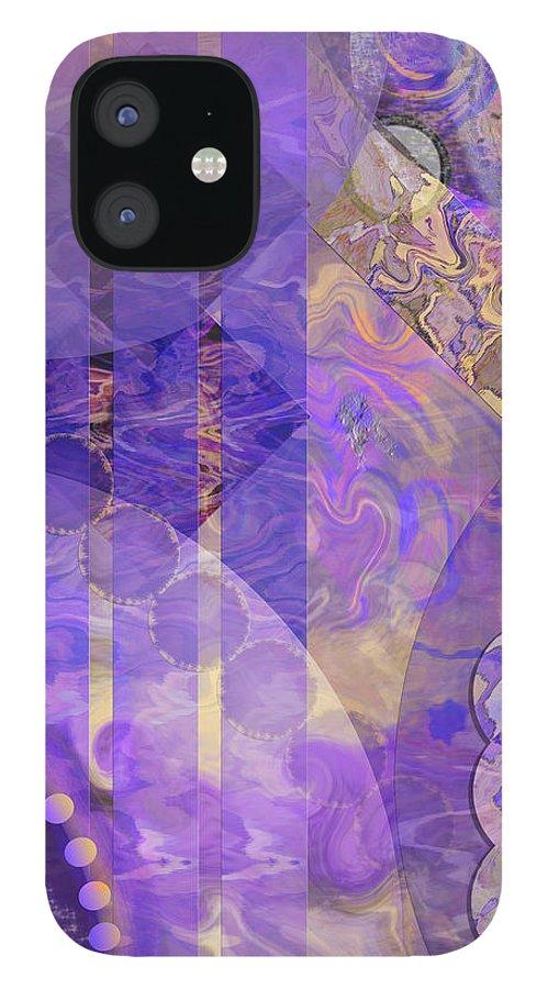 Lunar Impressions 2 IPhone 12 Case featuring the digital art Lunar Impressions 2 by John Robert Beck