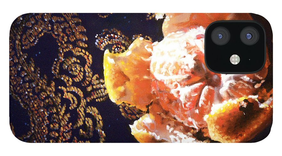 Mandarin IPhone 12 Case featuring the painting Mandarin by Dianna Ponting