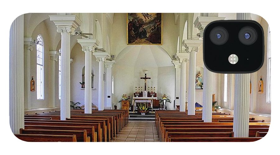 Lahaina IPhone 12 Case featuring the photograph Maria Lanakila Church Interior by Kirsten Giving
