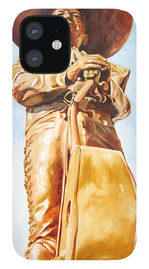Mariachi IPhone 12 Case featuring the painting Mariachi by Laura Pierre-Louis
