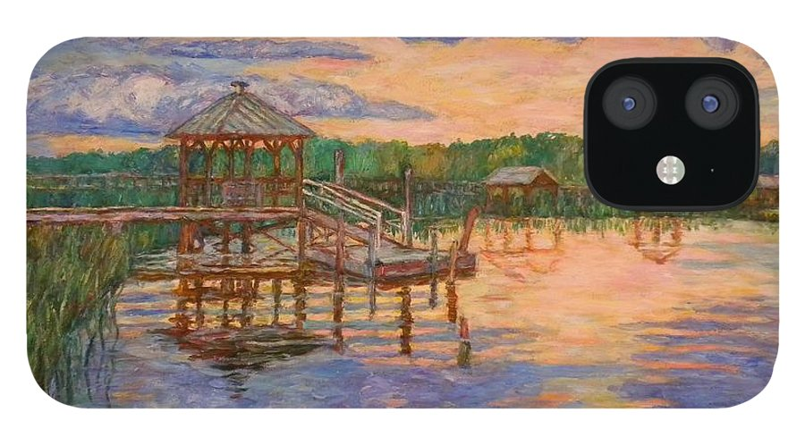 Landscape IPhone 12 Case featuring the painting Marsh View at Pawleys Island by Kendall Kessler