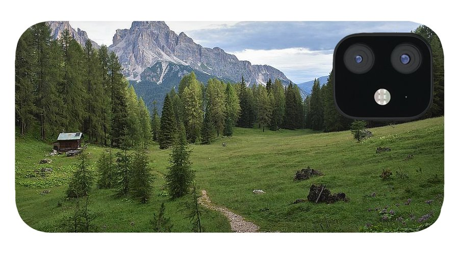 Dolomites IPhone 12 Case featuring the photograph Meadow in the dolomites by Luca Lautenschlaeger