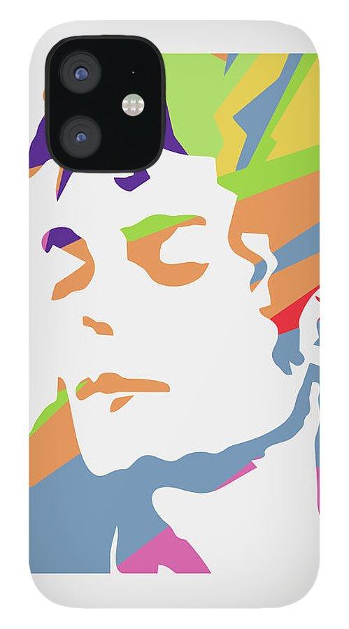 Michael Jackson IPhone 12 Case featuring the digital art Michael Jackson 3 POP ART by Ahmad Nusyirwan