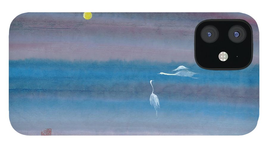 In The Mist Of The Night IPhone 12 Case featuring the painting Misty Fairies by Mui-Joo Wee