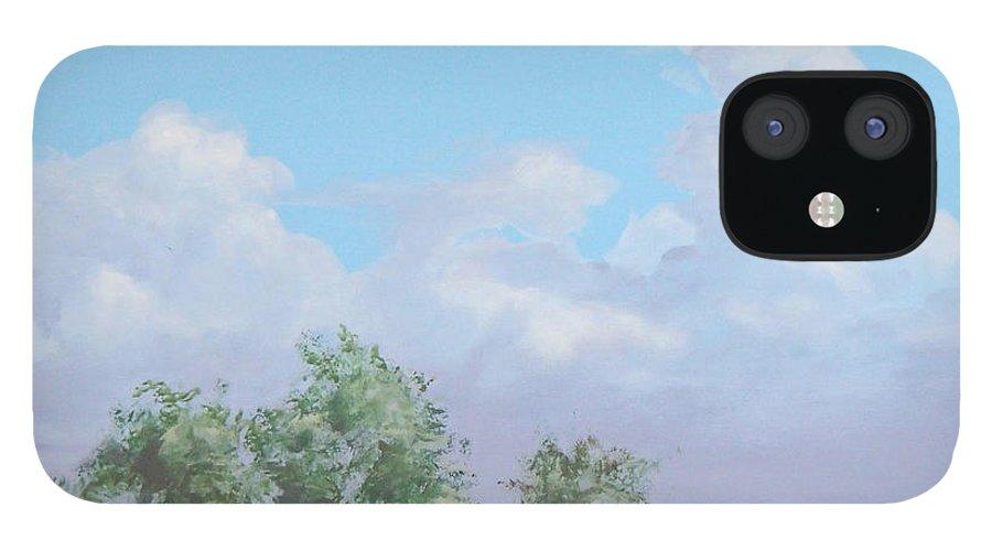 Monterey IPhone 12 Case featuring the painting Monterey by Philip Fleischer