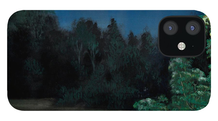 Moon IPhone 12 Case featuring the painting Moon Shadow by Susan Moore